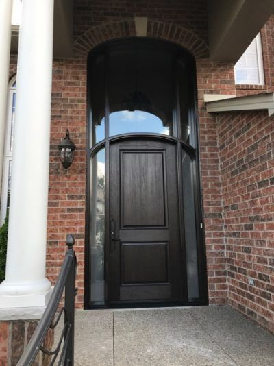 Fiberglass door installation
