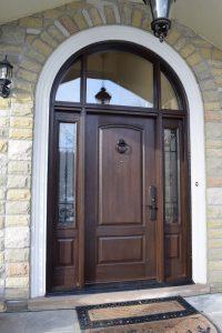 Premium front entry door
