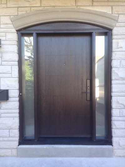 Contemporary fiberglass door