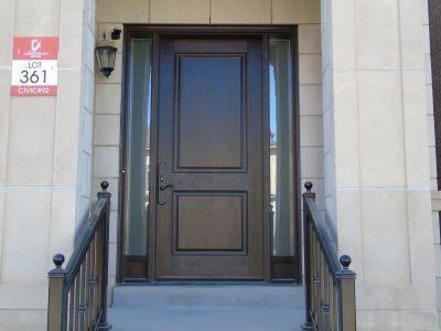 Custom front entry door