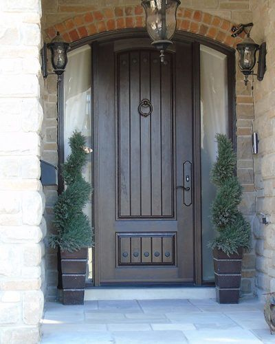 Most realistic wood grain fiberglass door