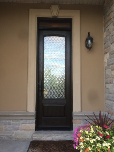 Front door beautifully stained