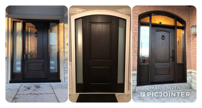 Front doors in Richmond Hill