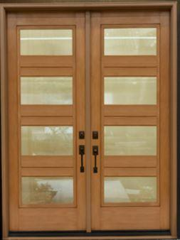 Craftsman fiberglass double door