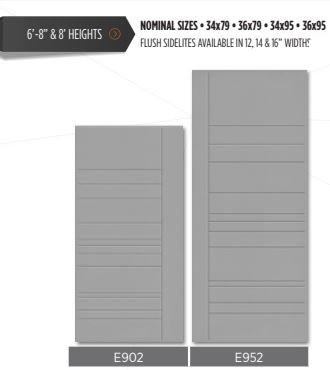 Modern grooved doors