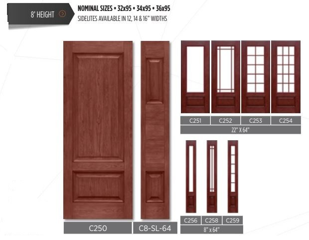 Wide single door with sidelites