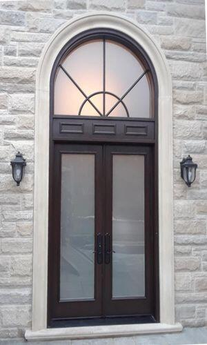 Mastergrain double door with circular transom