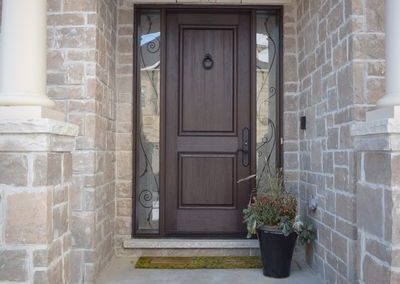 Mastergrain wide door with direct set sidelites