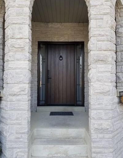 Mastergrain Plank door with Millenia Iron