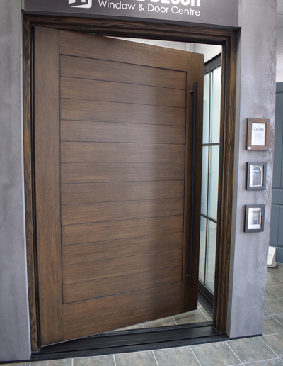 custom fiberglass pivot door