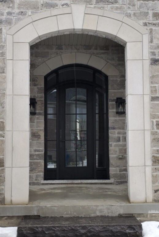 Arched with clear glass and SDL