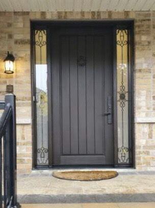 1 panel plank fiberglass door