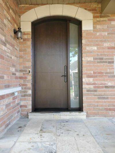 Contemporary Arch fiberglass door
