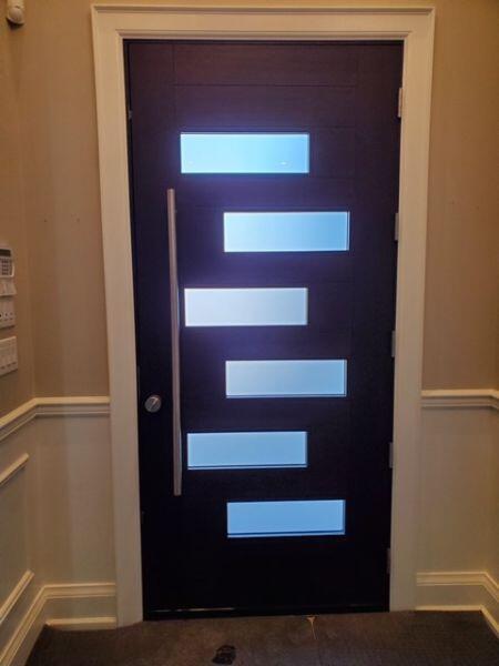 Custom fiberglass front door